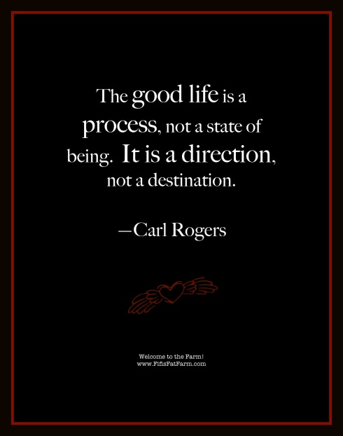 The good life is a process