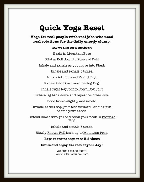 quick yoga reset